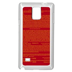 Mrtacpans Writing Grace Samsung Galaxy Note 4 Case (white) by MRTACPANS