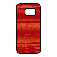 Mrtacpans Writing Grace Samsung Galaxy S7 Black Seamless Case by MRTACPANS