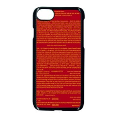Mrtacpans Writing Grace Apple Iphone 7 Seamless Case (black) by MRTACPANS