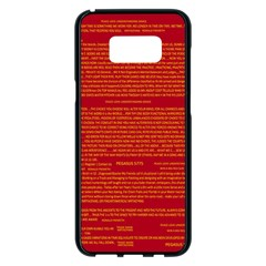 Mrtacpans Writing Grace Samsung Galaxy S8 Plus Black Seamless Case by MRTACPANS
