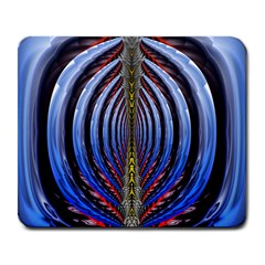 Illustration Robot Wave Rainbow Large Mousepads by Mariart