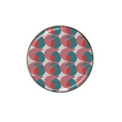 Pink Red Grey Three Art Hat Clip Ball Marker by Mariart