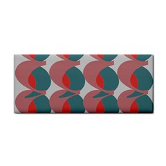 Pink Red Grey Three Art Cosmetic Storage Cases by Mariart