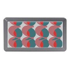 Pink Red Grey Three Art Memory Card Reader (mini) by Mariart