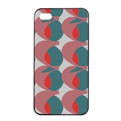 Pink Red Grey Three Art Apple Iphone 4/4s Seamless Case (black) by Mariart