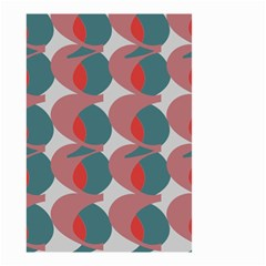 Pink Red Grey Three Art Small Garden Flag (two Sides) by Mariart