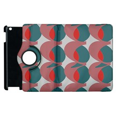 Pink Red Grey Three Art Apple Ipad 2 Flip 360 Case by Mariart