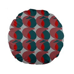 Pink Red Grey Three Art Standard 15  Premium Flano Round Cushions by Mariart