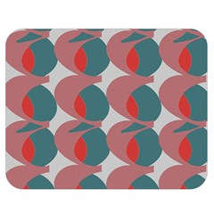 Pink Red Grey Three Art Double Sided Flano Blanket (medium)  by Mariart