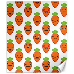 Seamless Background Carrots Emotions Illustration Face Smile Cry Cute Orange Canvas 8  X 10  by Mariart
