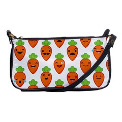 Seamless Background Carrots Emotions Illustration Face Smile Cry Cute Orange Shoulder Clutch Bags by Mariart
