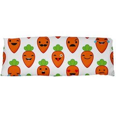 Seamless Background Carrots Emotions Illustration Face Smile Cry Cute Orange Body Pillow Case Dakimakura (two Sides) by Mariart