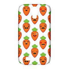Seamless Background Carrots Emotions Illustration Face Smile Cry Cute Orange Samsung Galaxy S4 Classic Hardshell Case (pc+silicone) by Mariart