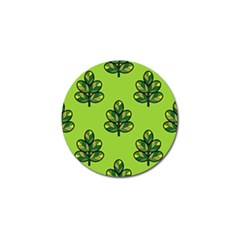 Seamless Background Green Leaves Black Outline Golf Ball Marker by Mariart