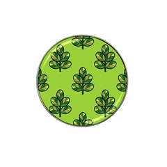 Seamless Background Green Leaves Black Outline Hat Clip Ball Marker (10 Pack) by Mariart