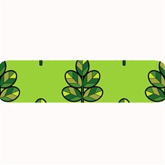 Seamless Background Green Leaves Black Outline Large Bar Mats by Mariart