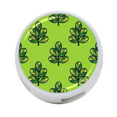 Seamless Background Green Leaves Black Outline 4 Port Usb Hub (two Sides)  by Mariart