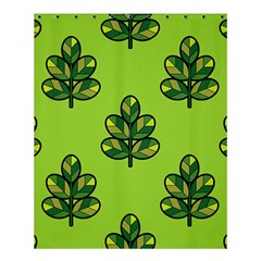 Seamless Background Green Leaves Black Outline Shower Curtain 60  X 72  (medium)  by Mariart