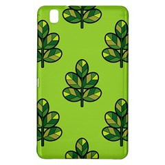 Seamless Background Green Leaves Black Outline Samsung Galaxy Tab Pro 8 4 Hardshell Case by Mariart