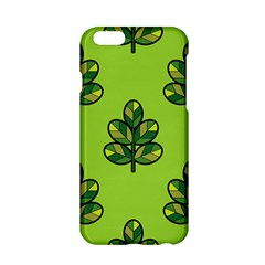 Seamless Background Green Leaves Black Outline Apple Iphone 6/6s Hardshell Case by Mariart