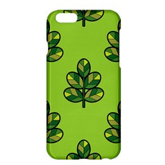 Seamless Background Green Leaves Black Outline Apple Iphone 6 Plus/6s Plus Hardshell Case by Mariart