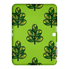 Seamless Background Green Leaves Black Outline Samsung Galaxy Tab 4 (10 1 ) Hardshell Case  by Mariart