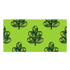 Seamless Background Green Leaves Black Outline Satin Shawl by Mariart