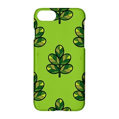 Seamless Background Green Leaves Black Outline Apple Iphone 7 Hardshell Case by Mariart
