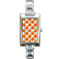 Seamless Background Orange Emotions Illustration Face Smile  Mask Fruits Rectangle Italian Charm Watch by Mariart