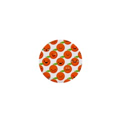Seamless Background Orange Emotions Illustration Face Smile  Mask Fruits 1  Mini Buttons by Mariart