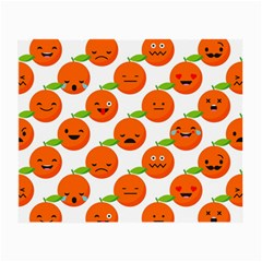 Seamless Background Orange Emotions Illustration Face Smile  Mask Fruits Small Glasses Cloth by Mariart