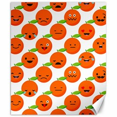 Seamless Background Orange Emotions Illustration Face Smile  Mask Fruits Canvas 20  X 24