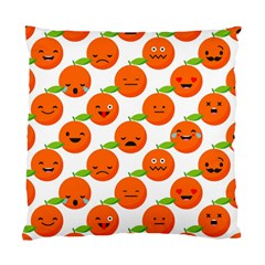 Seamless Background Orange Emotions Illustration Face Smile  Mask Fruits Standard Cushion Case (one Side) by Mariart