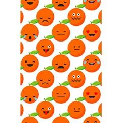 Seamless Background Orange Emotions Illustration Face Smile  Mask Fruits 5 5  X 8 5  Notebooks by Mariart