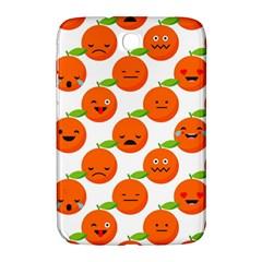 Seamless Background Orange Emotions Illustration Face Smile  Mask Fruits Samsung Galaxy Note 8 0 N5100 Hardshell Case  by Mariart