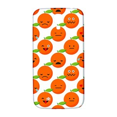 Seamless Background Orange Emotions Illustration Face Smile  Mask Fruits Samsung Galaxy S4 I9500/i9505  Hardshell Back Case by Mariart