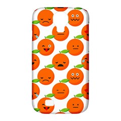 Seamless Background Orange Emotions Illustration Face Smile  Mask Fruits Samsung Galaxy S4 Classic Hardshell Case (pc+silicone) by Mariart