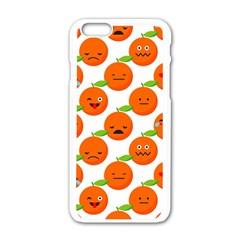 Seamless Background Orange Emotions Illustration Face Smile  Mask Fruits Apple Iphone 6/6s White Enamel Case by Mariart