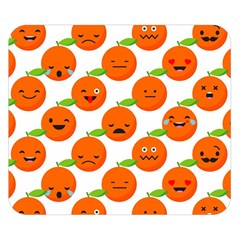 Seamless Background Orange Emotions Illustration Face Smile  Mask Fruits Double Sided Flano Blanket (small)  by Mariart