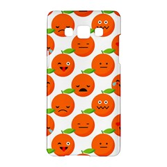 Seamless Background Orange Emotions Illustration Face Smile  Mask Fruits Samsung Galaxy A5 Hardshell Case  by Mariart