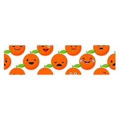 Seamless Background Orange Emotions Illustration Face Smile  Mask Fruits Satin Scarf (oblong) by Mariart