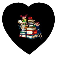 Back To School Jigsaw Puzzle (heart) by Valentinaart