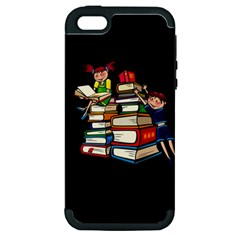 Back To School Apple Iphone 5 Hardshell Case (pc+silicone) by Valentinaart