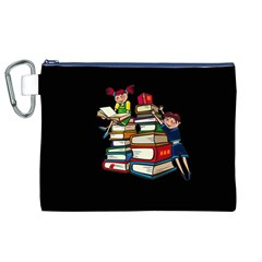 Back To School Canvas Cosmetic Bag (xl) by Valentinaart