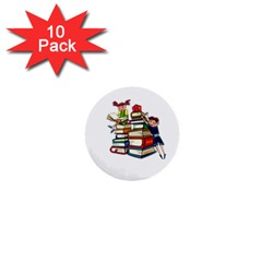 Back To School 1  Mini Buttons (10 Pack)  by Valentinaart