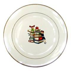 Back To School Porcelain Plates by Valentinaart