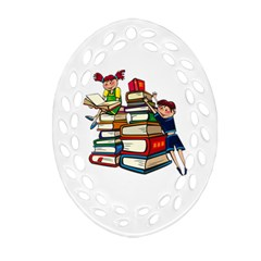 Back To School Oval Filigree Ornament (two Sides) by Valentinaart