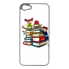 Back To School Apple Iphone 5 Case (silver) by Valentinaart
