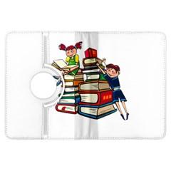 Back To School Kindle Fire Hdx Flip 360 Case by Valentinaart