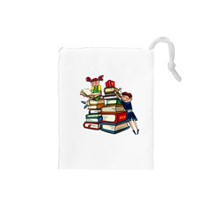 Back To School Drawstring Pouches (small)  by Valentinaart